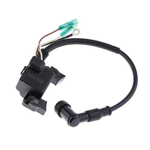H HILABEE Ignition Coil Cdi Box Spark Plug Rebuild Kit -Wiring Loom Harness Kill Switch for Yamaha Mariner 4hp 5hp: