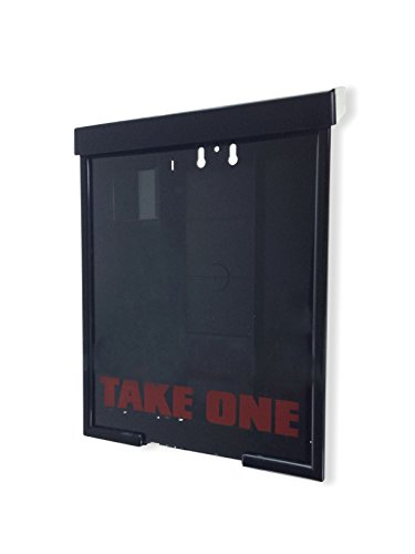Marketing Holders Black Outside Brochure Holder Heavy Duty Flyer Box by Marketing Holders