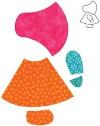 AccuQuilt GO! Fabric Cutting Dies; Sunbonnet Sue