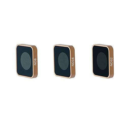 QKOO ND Filter Kit for GoPro Hero 7 Black/Hero (2018)/Hero 6 Black/Hero 5  Black - ND8, ND16, ND32 Lens Filter (3-Pack) - Neutral Density Lens Filters