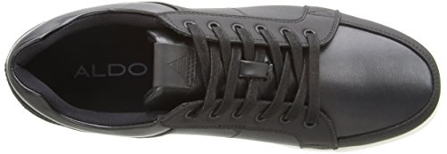 Aldo Men's Gwowen Fashion Sneaker, Black Leather, 13 D US