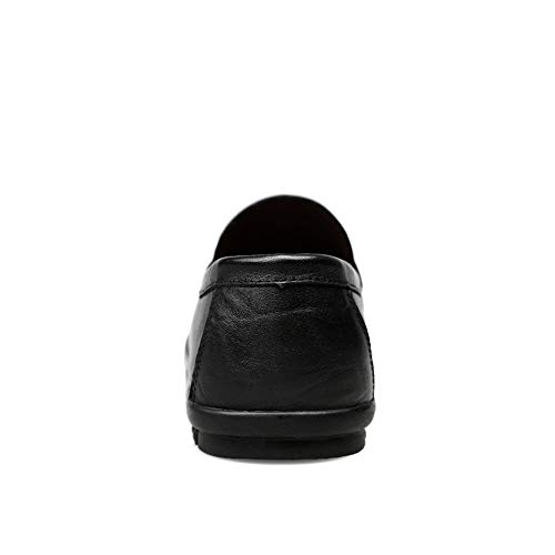 los cómodos para Zapatos Zapatos en Hombres Barco holgazán Mocasines Penny de Black Informal Hombre Zapatos Warm de IxwCwnq76