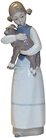 Lladro 1010, Girl with Lamb Girl holding Sheep