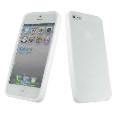 Empire Apple iPhone 5 Weiß Case Tasche Hülle Textured Poly Skin + Auto Dashboard Berg