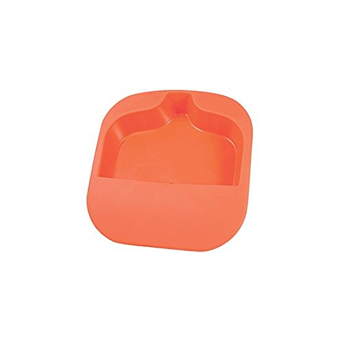 Medegen Medical Products H133-15 Bariatric Bedpan, 2 quart Capacity, 15.75'' × 14.75'' × 2.75'' x 0.5'', Orange (Pack of 6)
