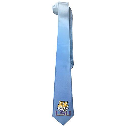 [Ggift LSU Tiger Logo Men's Fashion Business Solid Necktie Tie] (Lsu Mascot Costume)