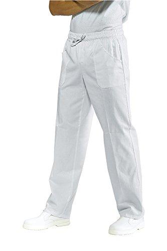 Marca Italiana Ottima vestibilit/à e Tessuto 100/% Cotone Pantalone con Coulisse e Laccetti Isacco Divisa Casacca Pantalone Unisex Bianco per ASA//OSS con Ricamo Opzionale