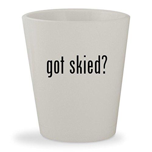 got skied? - White Ceramic 1.5oz Shot (Spy Valley Wines)