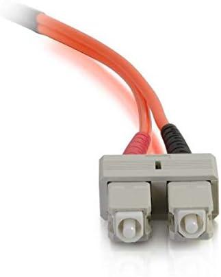 C2G 33001 OM2 Fiber Optic Cable SC-SC 50/125 Duplex Multimode Orange 3.3 Feet