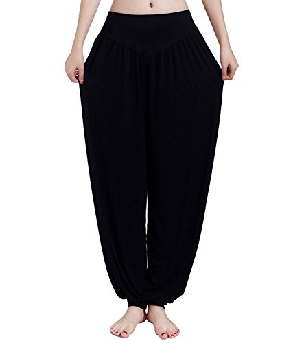 Shoppi Women Comfy Harem Loose Long Pants Belly Dance Casual Boho Wide Yoga Trousers by Shoppi