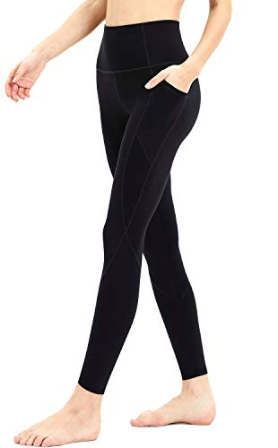 Persit Workout Leggings for Women with Pockets, Yoga Pants for Women High Waisted Athletic Gym Sport Yoga Leggings - Black - -