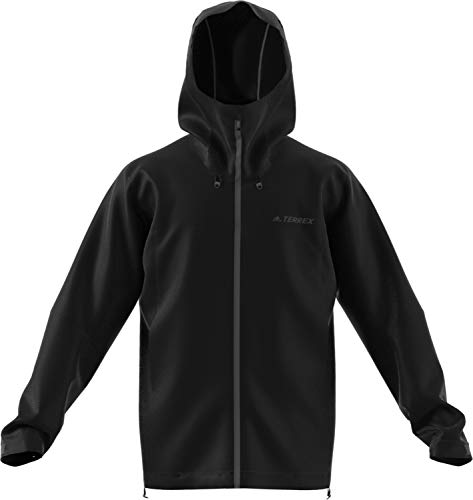 (adidas outdoor Swift Rain Jacket Mens Black, Size S)