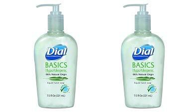 Dial Professional 06028CT Basics Liquid Hand Soap, 7.5 oz, (Case of 12) (2-(Pack))