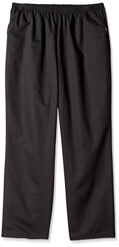 Chic Classic Collection Women's Petite Size Plus Stretch Elastic Waist Pull-On Pant, Black Twill, 24P ()