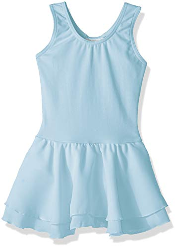 Capezio Girls' Toddler' Classic Double Layer Skirt Tank Dress, Light ()