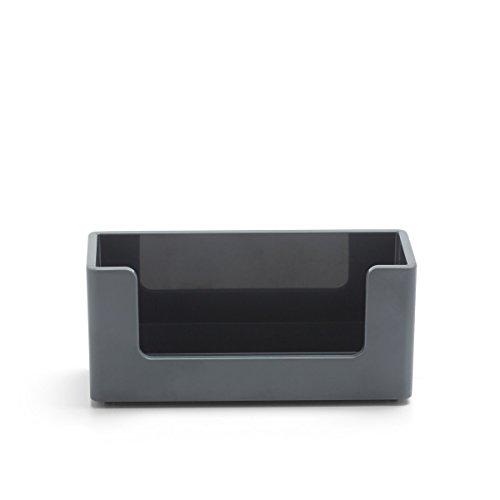 Poppin Business Card Holder, Dark Grey -