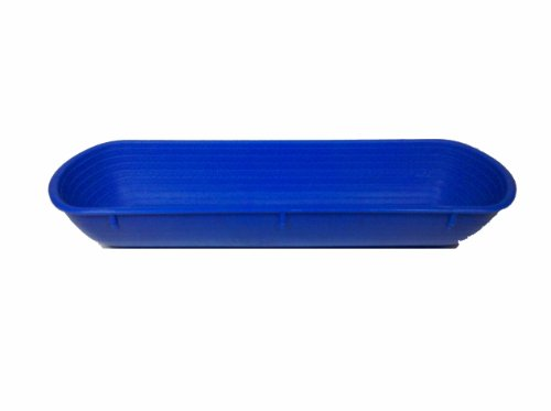 Paderno World Cuisine 16-1/2-Inch by 5-1/2-Inch Rectangular Blue Proofing Basket (1.5 Kilo)