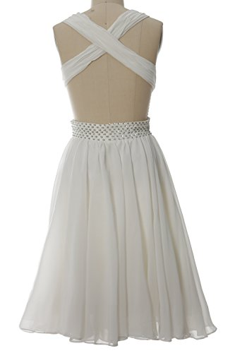 Sexy Chiffon MACloth Neck Party Dress Prom Short V Gown Women Straps Formal Dunkelmarine qrqIzOa