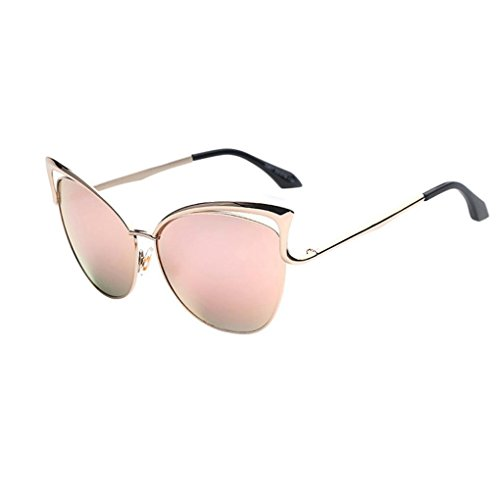 Dressffe 2018 Fashion Men Women Clear Lens Glasses Metal Spectacle Frame Myopia Eyeglasses Sunglasses - Pink Spectacle Frames