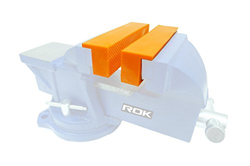 ROK 4-1/2 inch Magnetic Vise Jaw Liner Pads - Pair