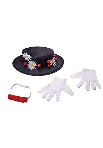 Disguise Women's Mary Poppins Accessory Kit Costume, Black, One Size Adult for $<!--$24.99-->