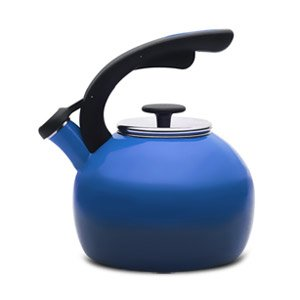 The Best Rachael Ray Teakettles 2-Quart Crescent Kettle (Gradient Blue)-56914 - Boil water for your tea, french press coffee, oatmeal, and more using this Rachael Ray Teakettles 2-Quart Crescent Kettle. This sharp kettle features a two-tone gradient ext