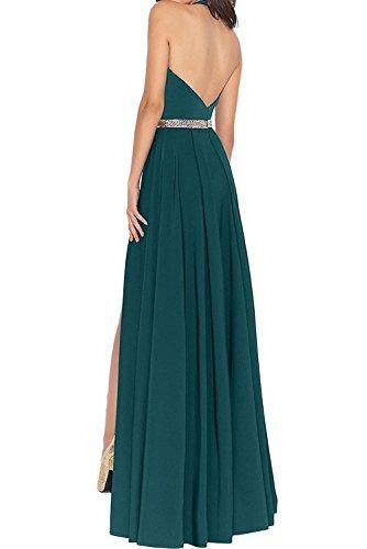 Wassermelon Partykleider Abendkleider Festlichkleider Neckholder JugendweiheKleider Lang mia Elegant Braut Pink La Chiffon 0wSUttg