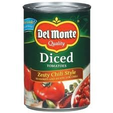 Del Monte Tomatoes, Zesty Chili Style, Diced, 14.5 Oz., (Pack of 6)
