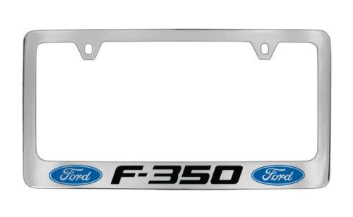 Ford F-350 Chrome Plated Metal License Plate Frame Holder ()