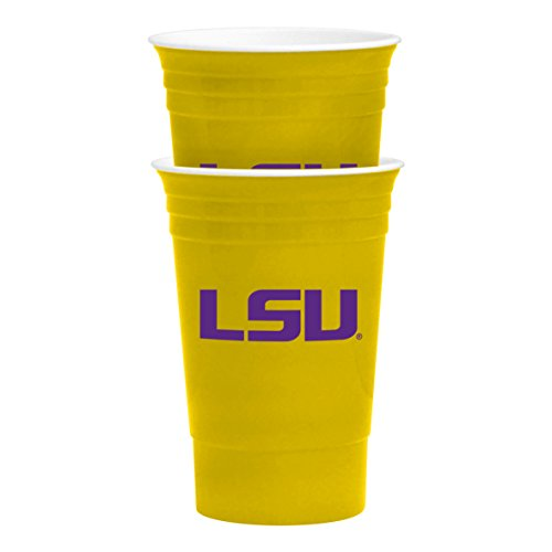 NCAA LSU Tigers Party Cup Tailgate Set, 16-ounce, Yellow (Set Tailgate Tigers)