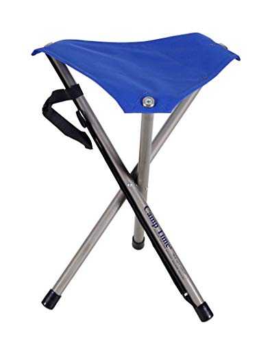 Camp Time Pack Stool, Light-weight Hiking Camping Disc-Golf Seat, Made in USA by CampTime