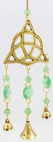 AzureGreen FW508 Brass Triquetra Wind Chime from New Age