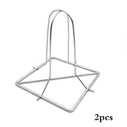 (Daisy Storee Stainless Steel Chicken Holder Non-Stick Chicken Duck BBQ Stand Upright Beer Roaster Rack Outdoor Camping Baking Grilled)