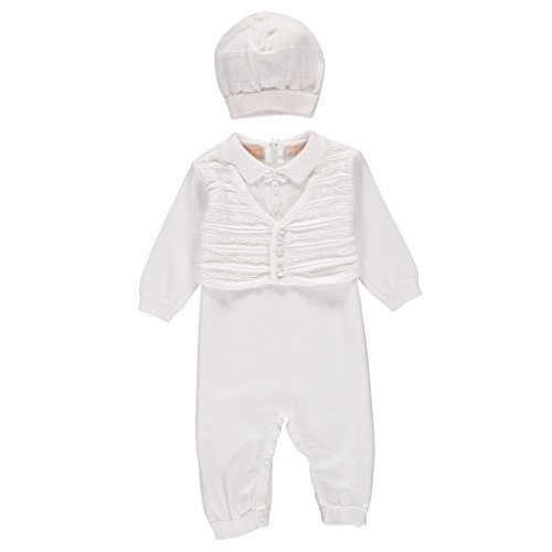 CB-Knit Christening Vest Outfit-NB