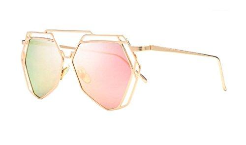 Laura Fairy Hollow Out Design Hexagon Hippie UV400 Pilot Sunglasses - Sunglasses Hexagon