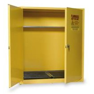 Eagle HAZ1955 Drum Storage Safety Cabinet for Flammable Liquids, 2 Door Manual Close, 110 gallon, 65''Height, 58''Width, 31-1/2''Depth, Steel, Yellow by Eagle