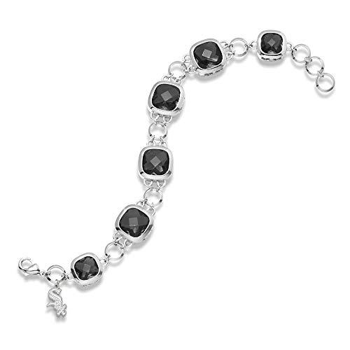 MLB Chicago White Sox MLB LogoArt Chicago White Sox Crystal Legend Bracelet Size One - White Sox Cufflinks Chicago