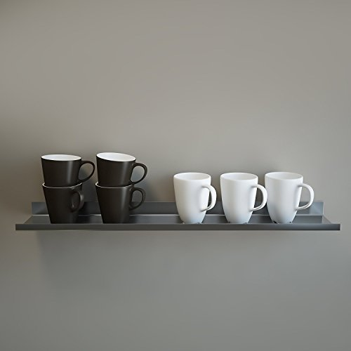 OVER THE RANGE Shelf, Floating/ Reversible Ledge, Spice Rack, Mug Display 30