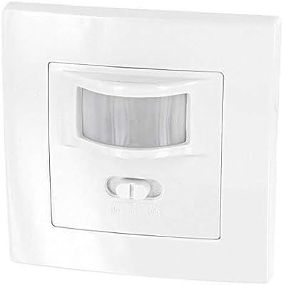 Sensor de movimiento 160° para montaje empotrado en pared, apto para luz led, ...