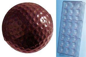 Fat Daddio's Golf Ball Polycarbonate Candy Mold 18-Piece (Golf Ball Candy Mold)