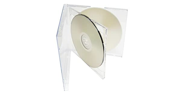 mediaxpo Brand 50 Standard Clear Smart Tray Double CD Jewel Case