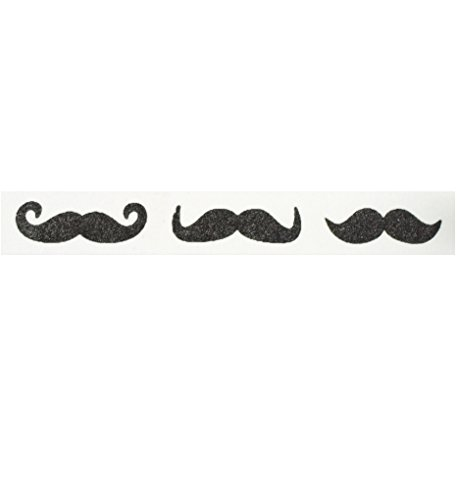 Mustache Washi Tape (1 Roll - 9/16