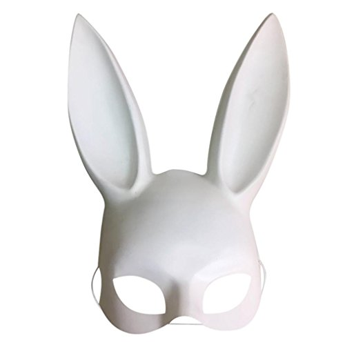 Beautyfine Hot Sale Easter Masquerade Party Rabbit Ears Mask Half Face Masks Nightclub Bar (Rabbit Ears For Sale)