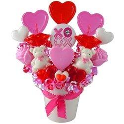 (Hugs and Kisses XOXO Lollipop Bouquet)