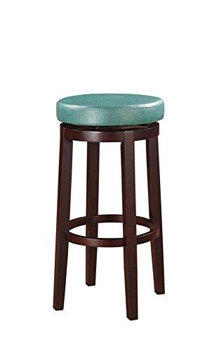 Linon 98353TEA-01-KD Maya Bar, Brown Stool, 29 , Teal