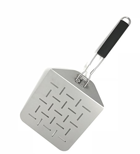 Aluminum Pizza Peel (Big Flipper Spatula and Pizza Peel - Folds for easy storage)