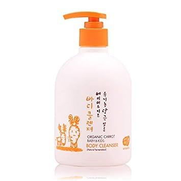 Whamisa Organic Carrot Baby & Kids Body Cleanser 500ml, 16.9 fl. oz.-
