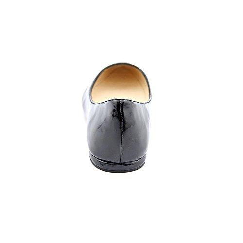 Negen West-vrouwen Speakup Ballet Flat Black 2 Sy Patent