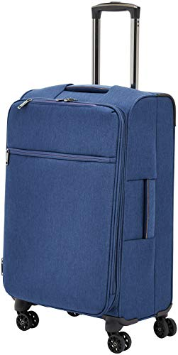 - AmazonBasics Belltown Softside Rolling Spinner Suitcase Luggage - 25 Inch, Heather Blue