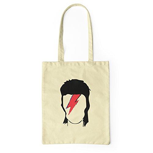 "Bolsa de tela ""David Bowie Ziggy Stardust"" - tote bag shopping bag 100% algodón LaMAGLIERIA, Natural"